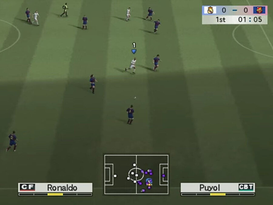 Winning Eleven'dan bir game-play görüntüsü.