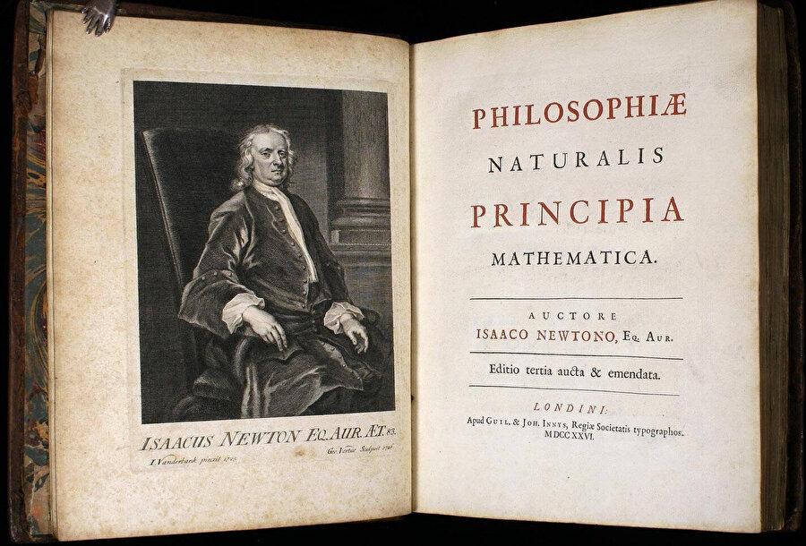 Isaac Newton'ın Philosophiae Naturalis Pricipia Mathematica adlı eseri.