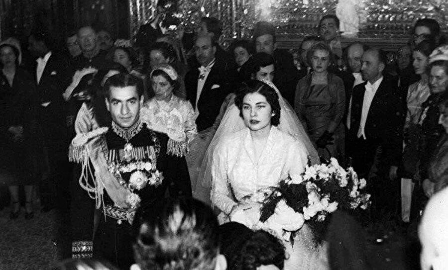 Şah ve Süreyya'nın düğününde bir kare, 1951.