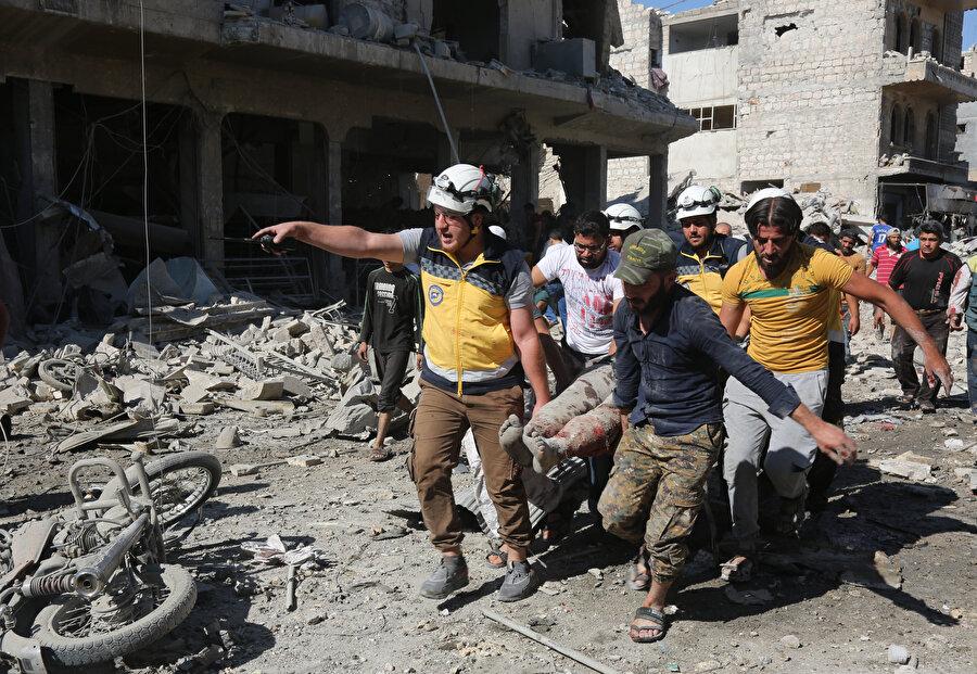 Saldırı sonrası yaralıları kurtarma çalışmaları sürüyor.