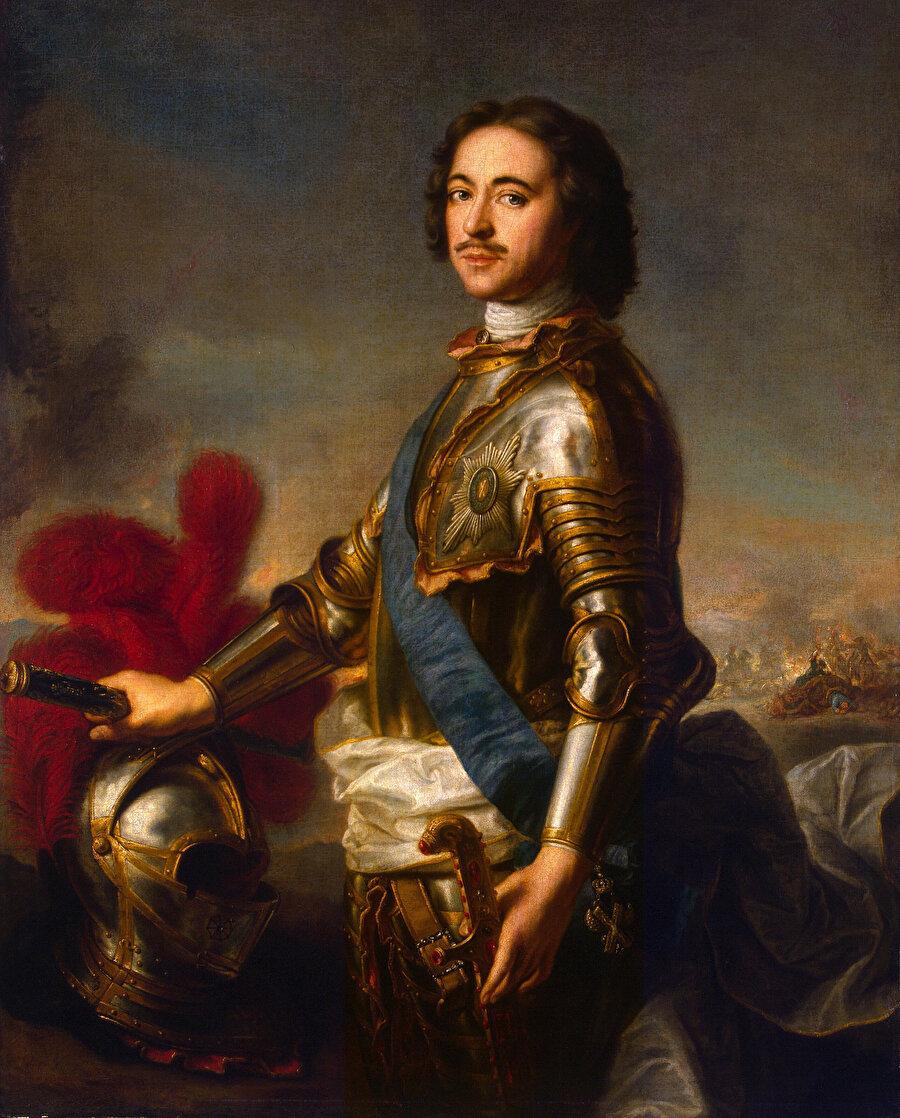 Fransız ressam Jean-Marc Nattier tarafından 1717 yılında çizilen I Petro portresi.