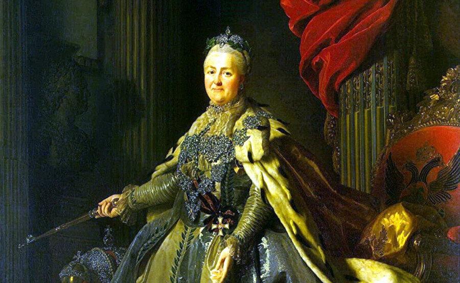 İsveç'li ressam Aleksandr Roslin'in çizdiği II Katerina portresi.