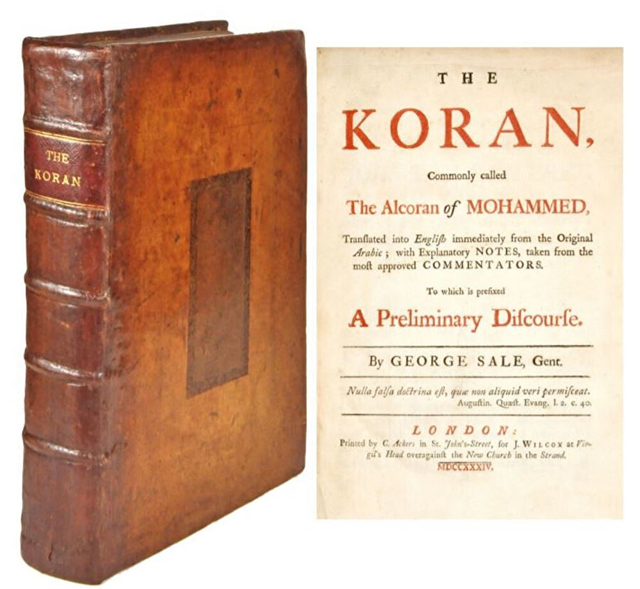 "George Sale'in ""The Koran: Commonly Called the Alcoran of Mohammed"" tercümesi."