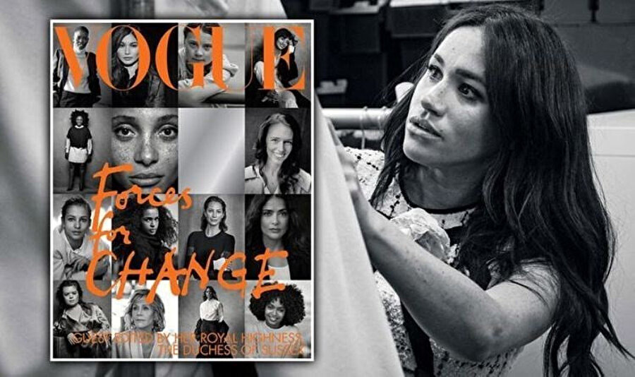 Meghan Markle, ünlü bir dergi için özel sayı tasarladı