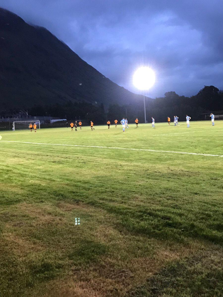 Fort William FC - Nairn County maçının oynandığı Claggan Park.