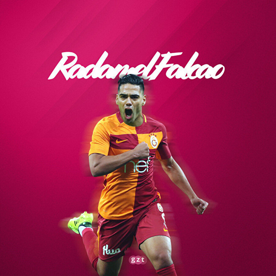 Radamel Falcao Galatasaray formasıyla.