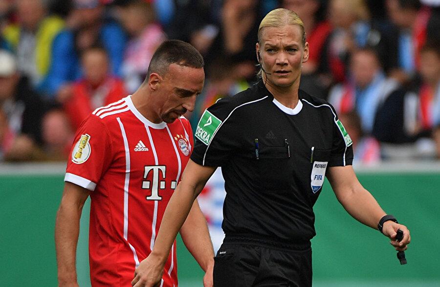 Franck Ribery & Bibiana Steinhaus.