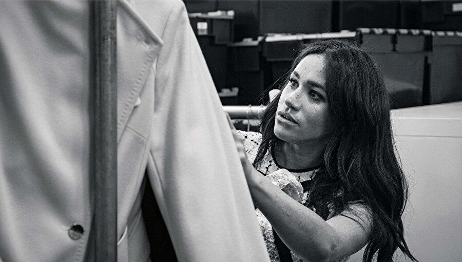 Meghan Markle Vogue dergisi için çalışıyor