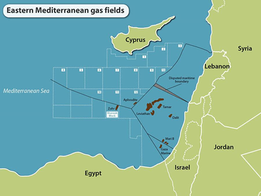 İsrail'in doğalgaz çıkardığı yataklardan bazıları, 10 yıldır abluka altında tuttuğu Gazze açıklarında yer alıyor.