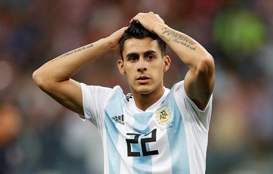 Cristian Pavon Arjantin Milli Takımı'nın formasıyla.