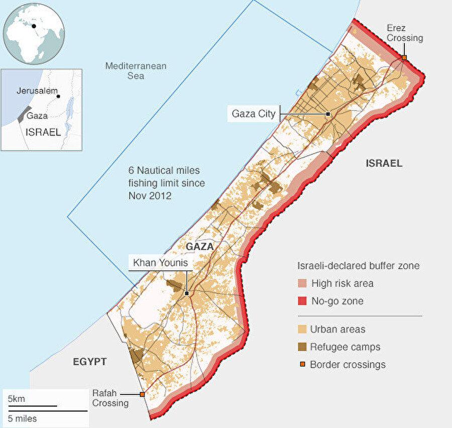 İsrail'in Gazze'ye yönelik olarak 2007'de başlattığı abluka, halen devam ediyor.