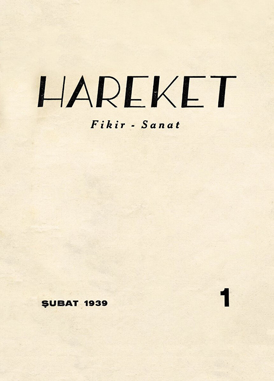 Hareket dergisinin ilk sayısı.