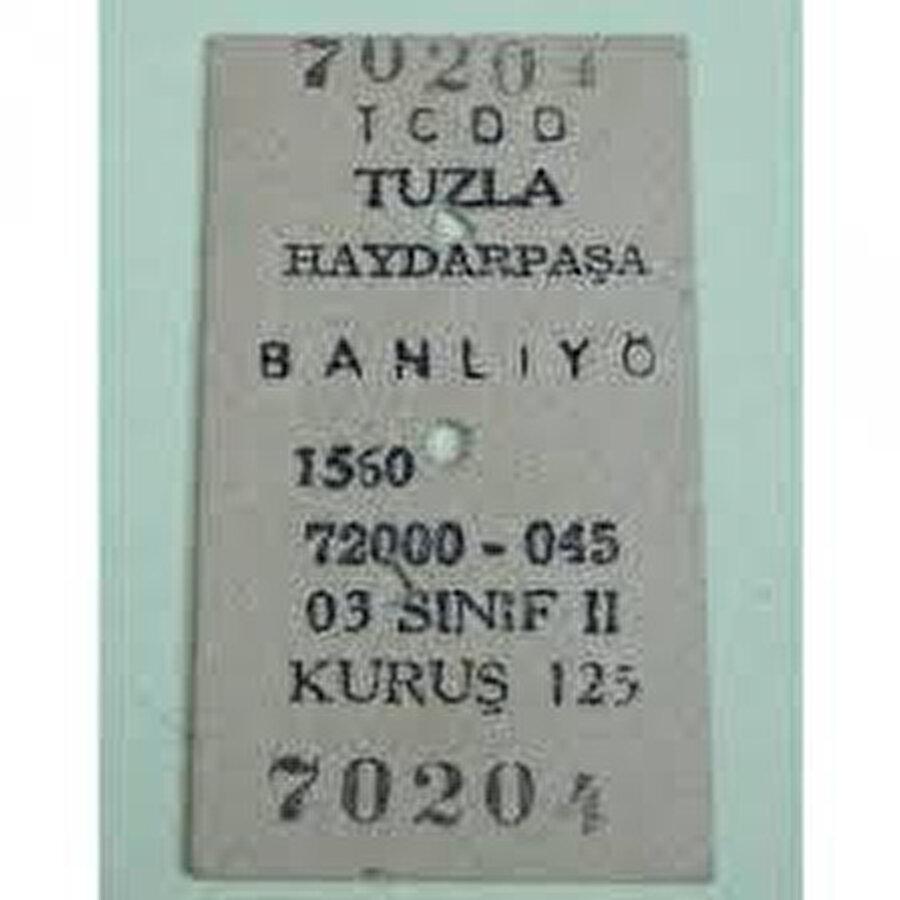 Eski karton tren bileti