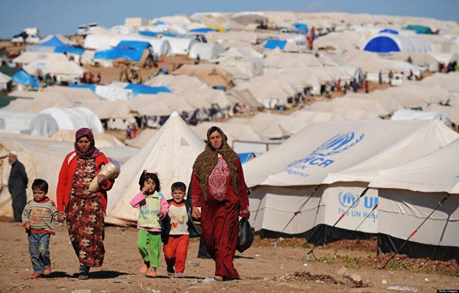 Türkiye sınırında bulunan Atme kamplar bölgesi.