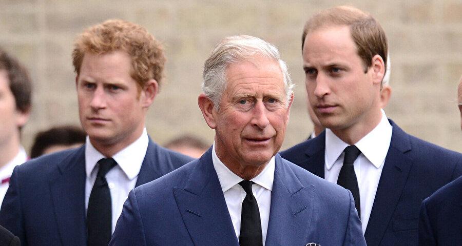 Prens Harry, Prens Charles, Prens William