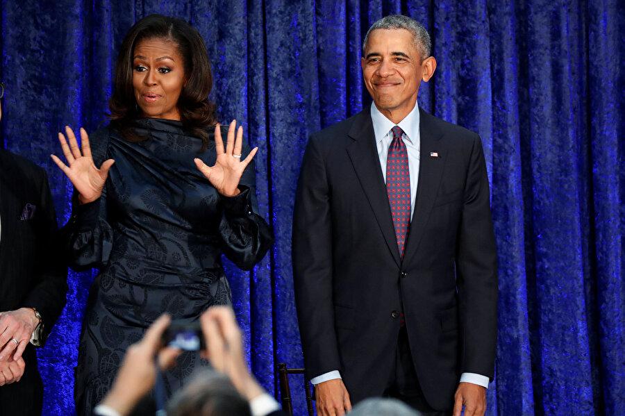 Barack Obama ve eşi Michelle Obama.