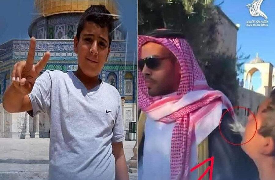 Filistinliler, Muhammed Suud'u Mescid-i Aksa'da protesto etmişti.