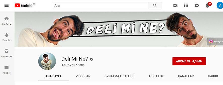 Ali Abdülselam Yılmaz'ın YouTube kanalı Deli Mi Ne? takipçi kaybetmeye devam ediyor