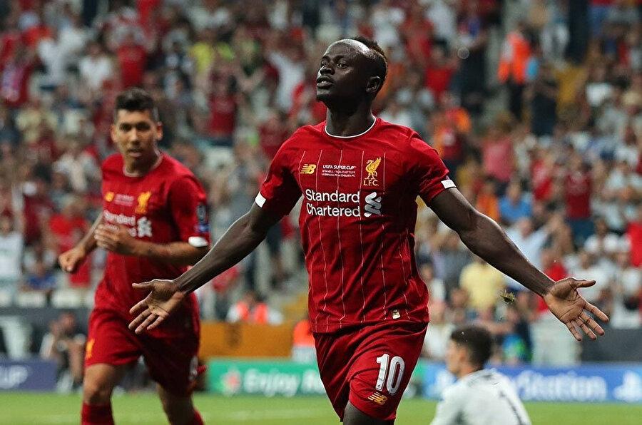 Sadio Mané'nin attığı gol sonrasındaki gol sevinci.