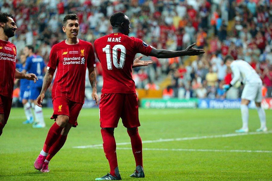 Sadio Mané'nin gol sevinci.