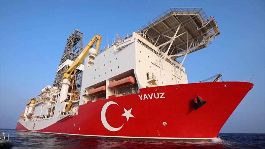 Doğu Akdeniz'deki gemilerden sadece biri olan Yavuz Sondaj Gemisi