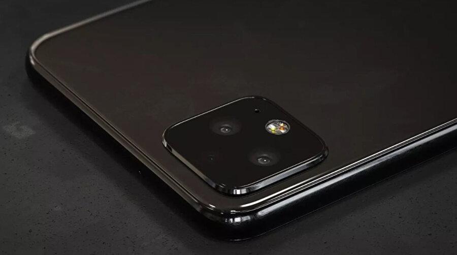 Google Pixel 4'de kameraların yan yana dizilmesi bekleniyor.