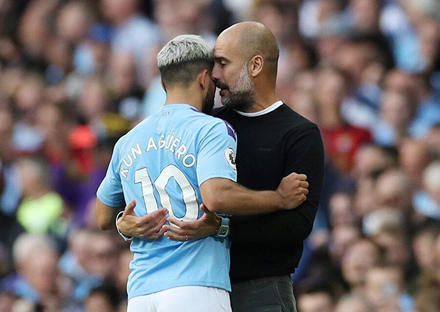 Pep Guardiola & Kun Agüero.