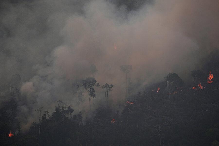 Orman yangını Reuters muhabiri tarafından böyle kaydedildi.