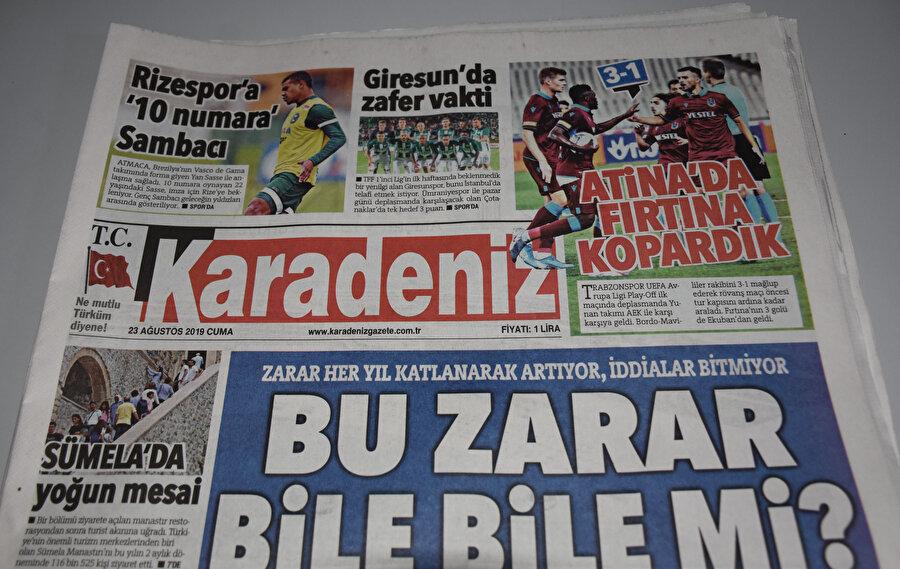 Karadeniz Gazetesi.