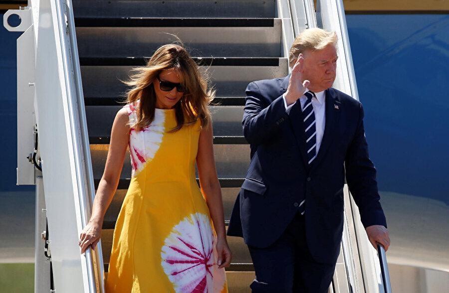 Trump zirveye eşi Melania Trump ile geldi.