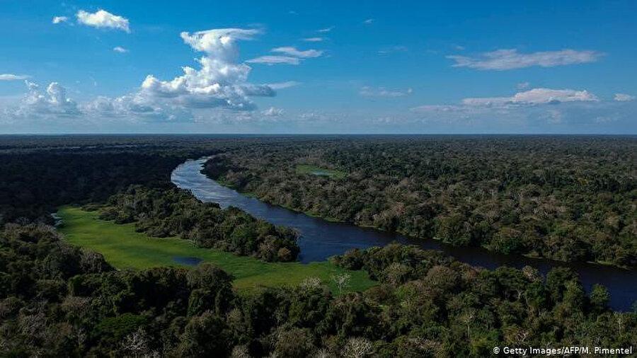 Amazon Yağmur Ormanları sadece Brezilya için değil, Güney Amerika'nın tamamı için muazzam miktarda su üretiyor. 'Uçan nehirler' olarak adlandırılan, evapotranspirasyon sonucu oluşan su buharı ile yüklü hava kütleleri Brezilya'nın pek çok bölgesine nem taşıyor.