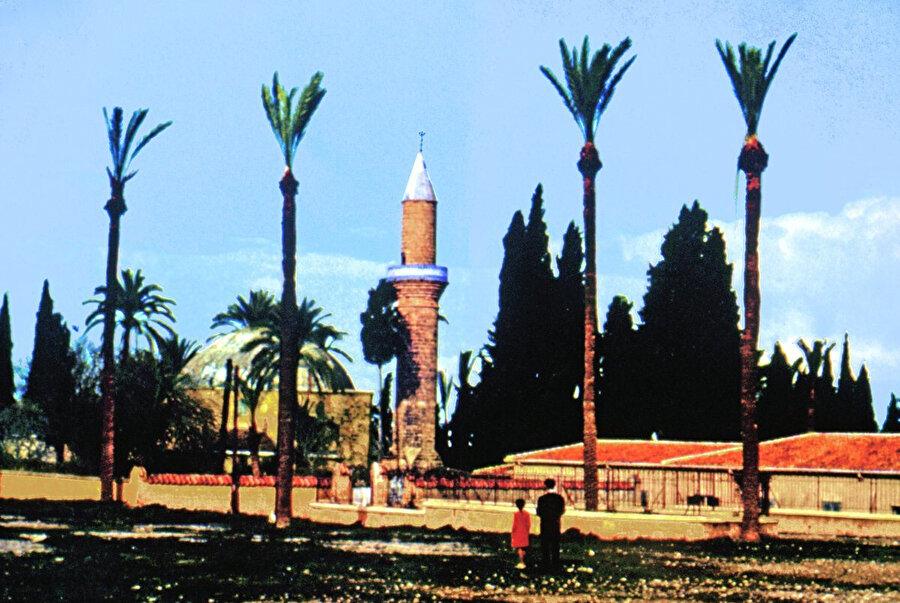 """''Gül bahçesi"""" anlamına gelen """"gülşen-i feyz"""" adı verilen Hala Sultan Tekkesi'nin eski hali."""