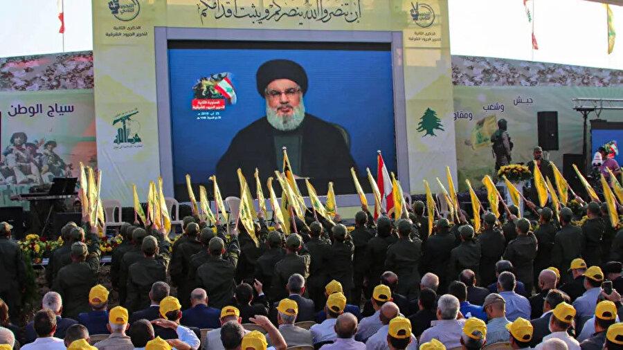Hizbullah Genel Sekreteri Hasan Nasrallah, pazar günü Lübnan'da taraftarlarına hitap etti.