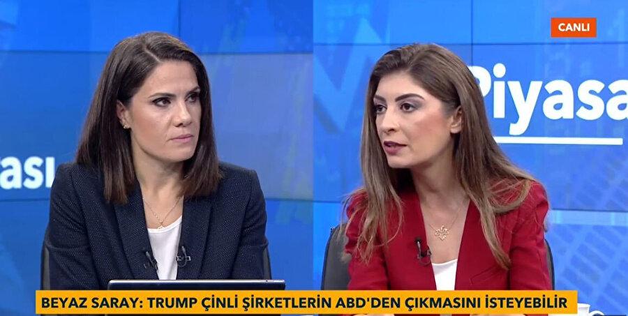 TVNET Ekonomi Şefi Semra Güney Karabaş'ın (Solda) konuğu İntegral Yatırım Menkul Değerler Araştırma Uzmanı Seda Yalçınkaya Özer (Sağda)