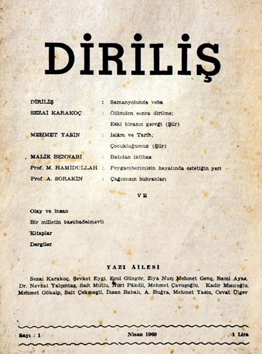Diriliş dergisi, 1960 Nisan sayısı.
