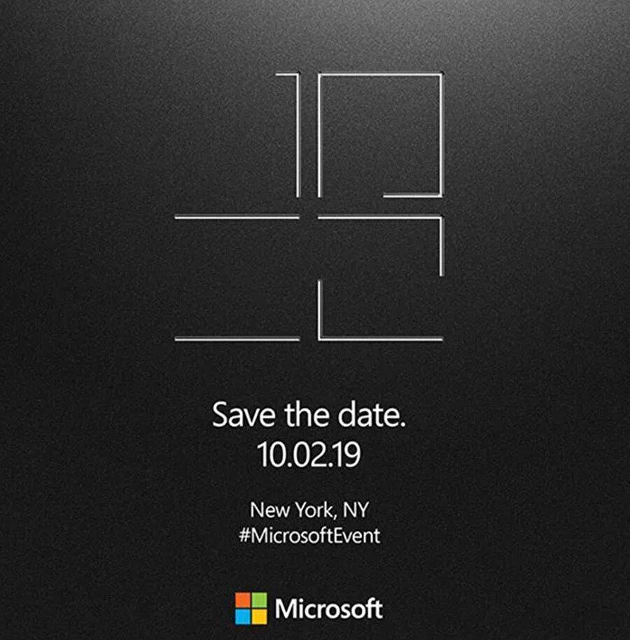 Microsoft, etkinliği bu davetiyeyle duyurdu.