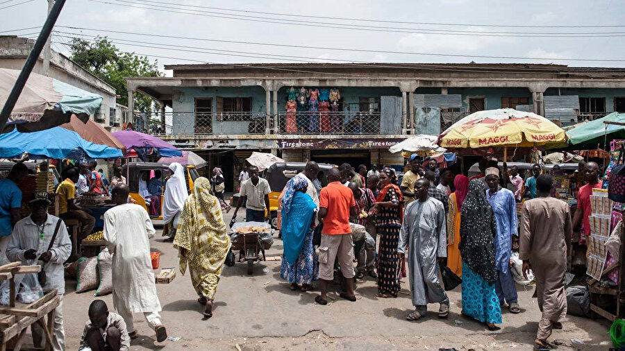 Örgütün doğum yeri olan Nijerya'nın Kuzeydoğusundaki Maiduguri kentinin en büyük pazarı.