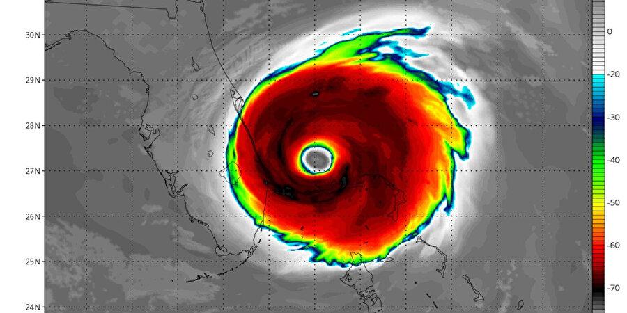 Dorian Kasırgası'nın pazartesi günü öngörülen yeri ve yoğunluğu