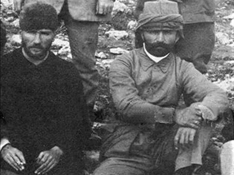 Mustafa Kemal ve Enver Paşa, Trablusgarp'ta.