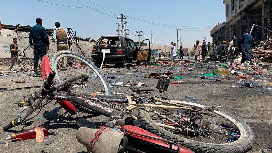 Temmuz 2019 'da Afganistan'ın başkenti Kabil'de gerçekleştirilen bir intihar saldırısı sonrası.