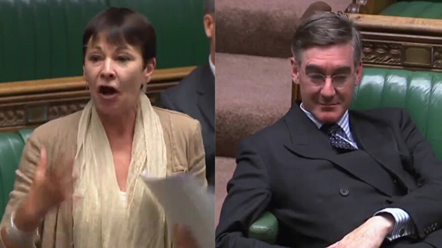 Yeşiller Partisi'nden milletvekili Caroline Lucas, Mogg'a tepki gösterdi.