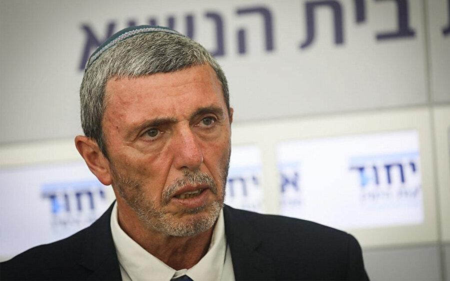 İsrail Eğitim Bakanı Rafi Perez.