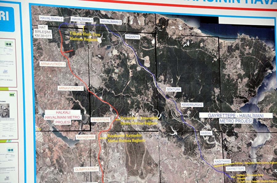 Hattın güzergahı haritada böyle gösterildi.