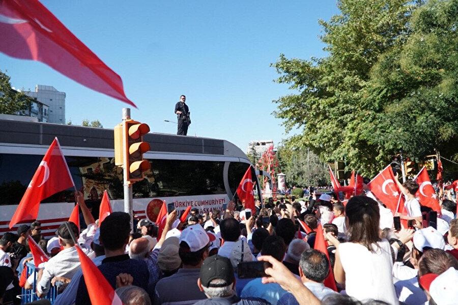 Erdoğan Eskişehir'de böyle karşılandı.