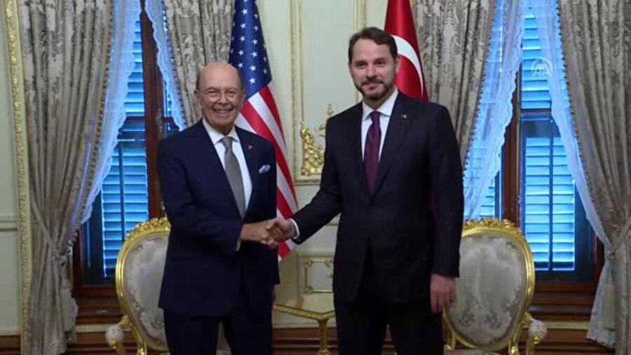 Hazine ve Maliye Bakanı Berat Albayrak, ABD Ticaret Bakanı Wilbur Ross ile görüştü.