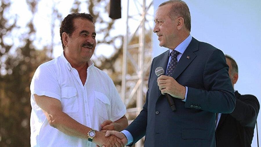 İbrahim Tatlıses ve Cumhurbaşkanı Recep Tayyip Erdoğan