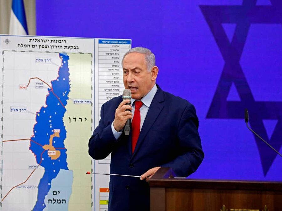 Netahyahu yeniden seçilirse Ürdün vadisini ilhak edeceği sözünü verdiği planı açıklarken.