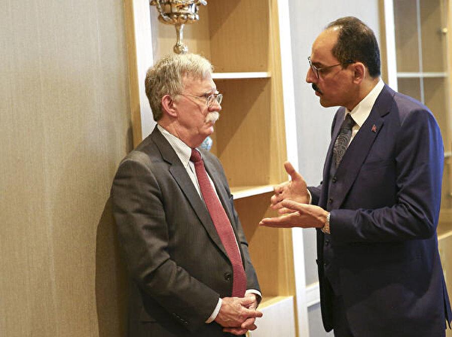 John Bolton, Ocak ayında Türkiye temasları kapsamında Cumhurbaşkanlığı Sözcüsü İbrahim Kalın Cumhurbaşkanlığı Külliyesi'nde bir araya gelmişti.