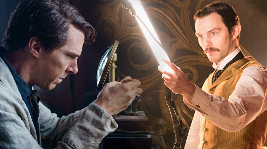 Benedict Cumberbatch(Edison) ve Michael Shannon(Tesla)