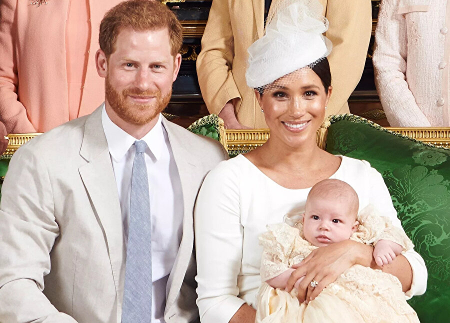 Prens Harry, Meghan Markle ve oğulları Archie